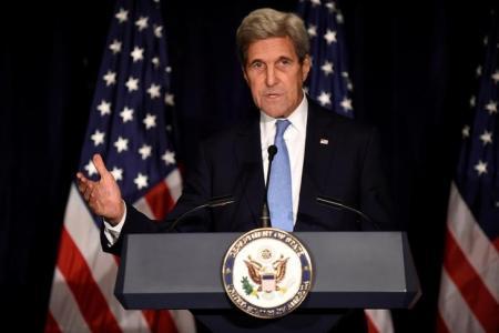 Imagen de archivo del secretario de Estado de Estados Unidos, John Kerry, en una rueda de prensa en Manhattan