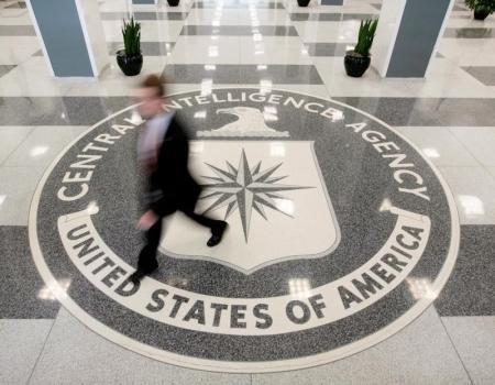 El lobby de la sede central de la CIA en Langley, Virgina.
