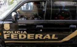 Un vehículo de la policía Federal.