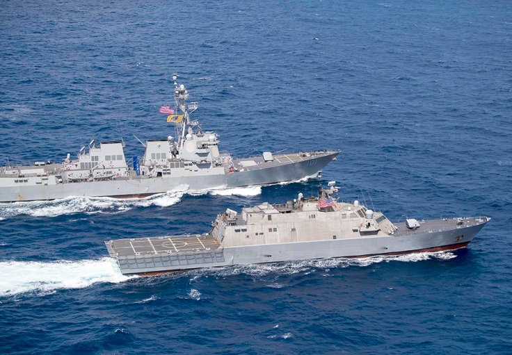 USS Gridley (DDG 101) and USS Detroit (LCS 7) DIVTACS