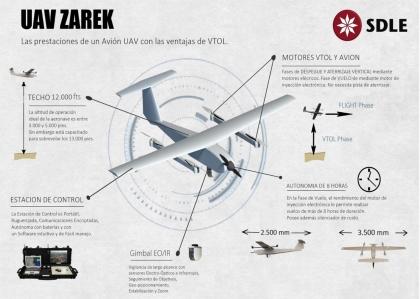 Zarek_2 especificaciones